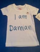 Diseño e impresión en vinil textil de playera para bebé.